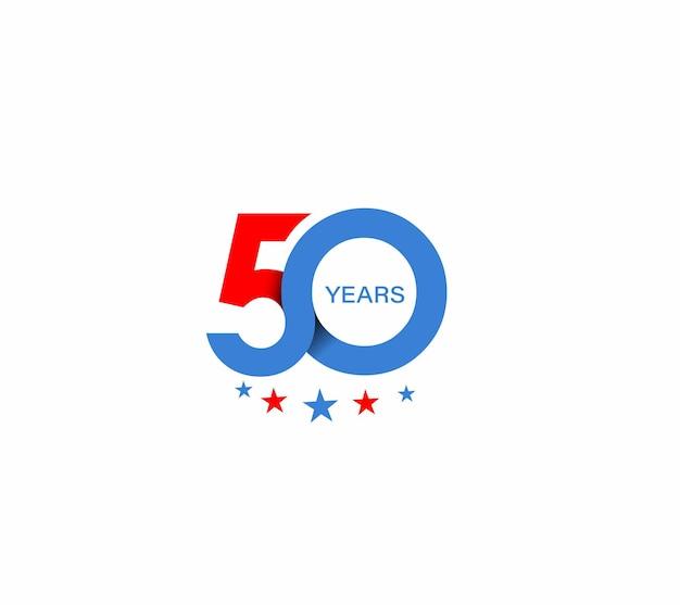 Design zum 50-jährigen jubiläum.