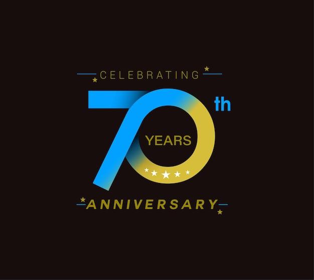 Design zum 70-jährigen jubiläum Premium Vektoren
