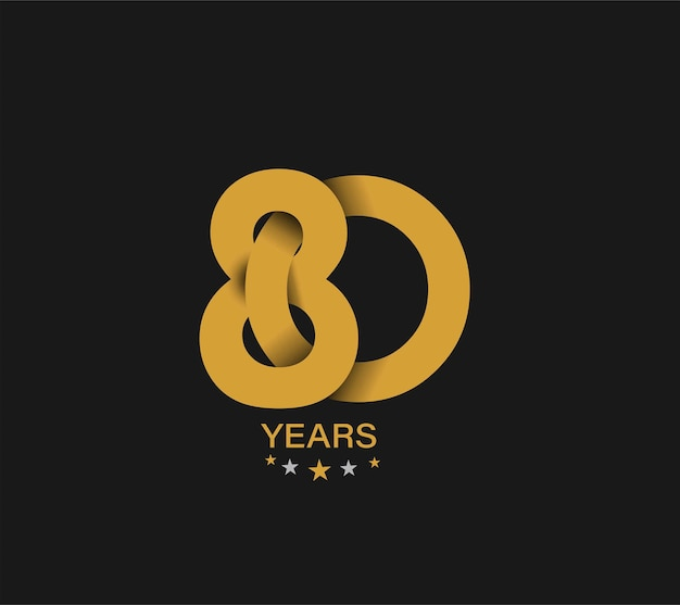 Design zum 80-jährigen jubiläum.
