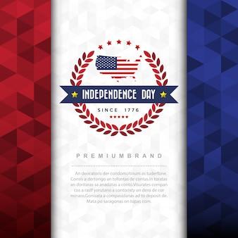 Designelement für den unabhängigkeitstag