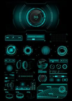 Designelemente für die geschwindigkeitstechnologie-schnittstellenvorlage