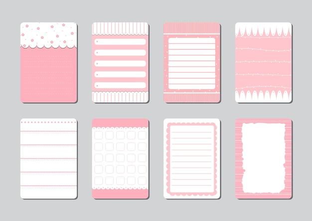 Designelemente für notebook