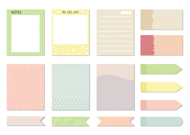 Designelemente für notebook,