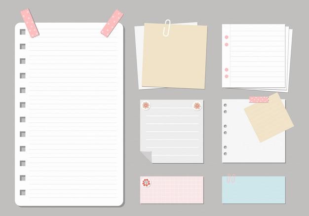 Designelemente für notebooks