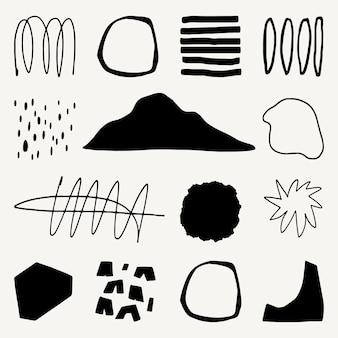 Designelemente in schwarz und weiß