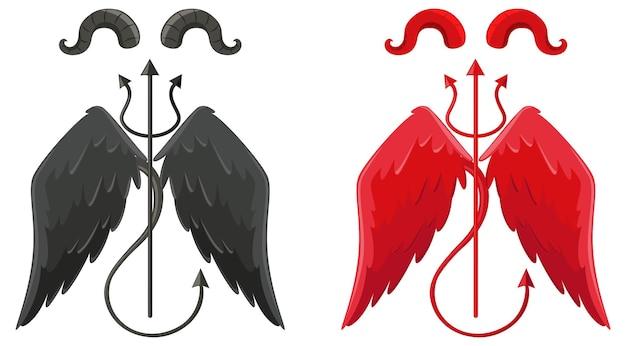 Designelemente von teufel und engel