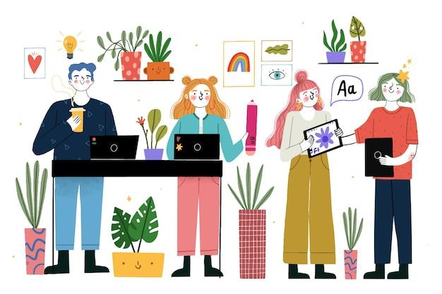 Designer-kollektionskonzept