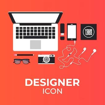 Designerelemente 2d