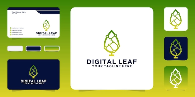 Designinspiration, technologie, digitales blatt und visitenkarten