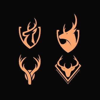 Designkollektion für kopfhirsch-logos