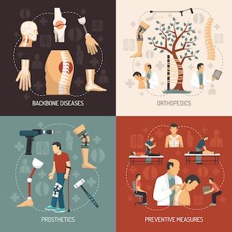 Designkonzept der orthopädie 2x2