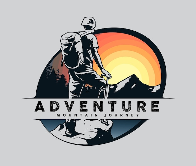 Designkonzept für bergsteiger