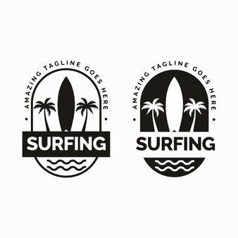 Designkonzept für das surfen-logo