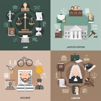 Designkonzept für öffentliche gerechtigkeit