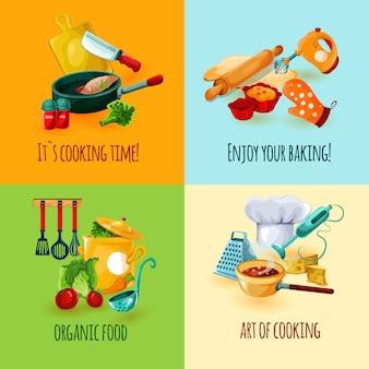 Designkonzept kochen