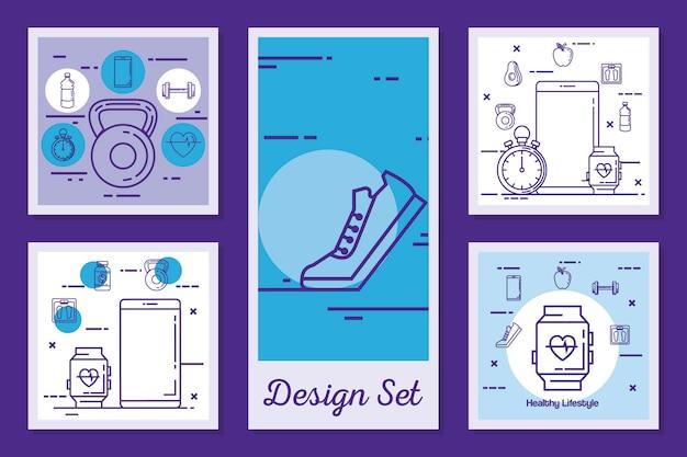 Designs setzen lebensstil gesund