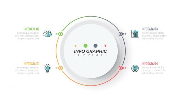 Designschablone des geschäfts infographic mit kreisen
