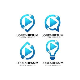 Designset für das logo des elektroservice