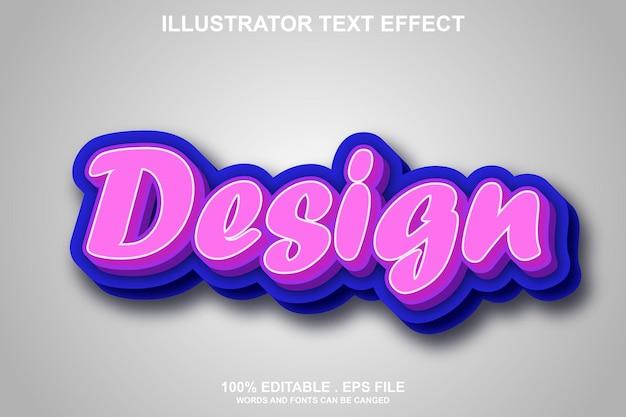 Designtext-effekt editierbar