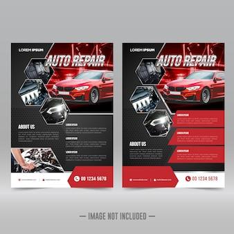 Designvorlage für autoreparatur-flyer