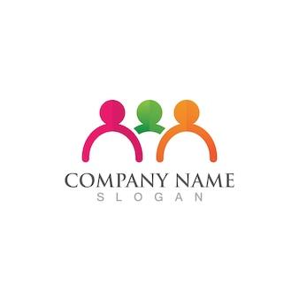 Designvorlage für community-, netzwerk- und social-icons