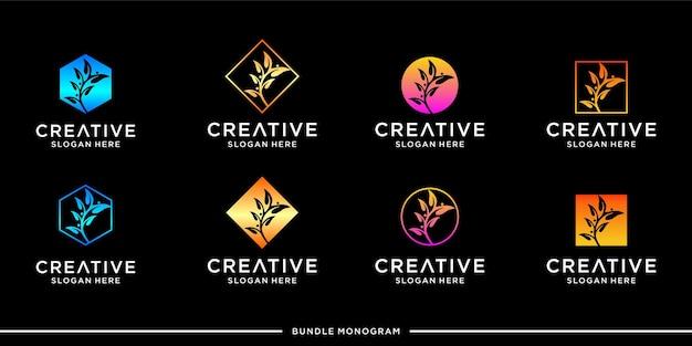 Designvorlage für das blumenlogo