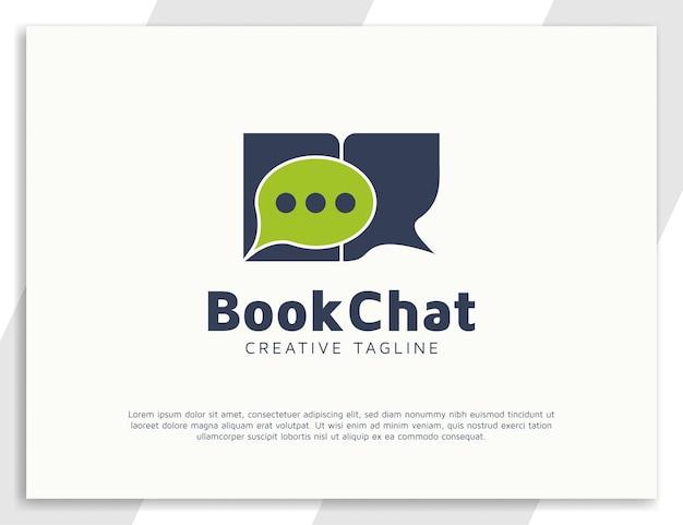 Designvorlage für das chat-logo buchen