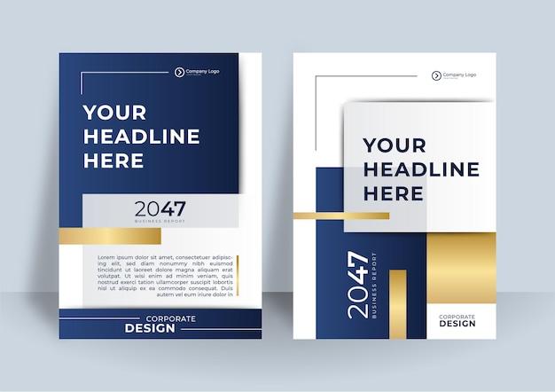 Designvorlage für das corporate cover. modernes geometrisches plakatdesign.