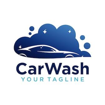 Designvorlage für das firmenlogo von autowaschanlagen