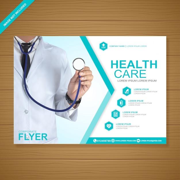 Designvorlage für das gesundheitswesen und medizinische abdeckung a4-flyer