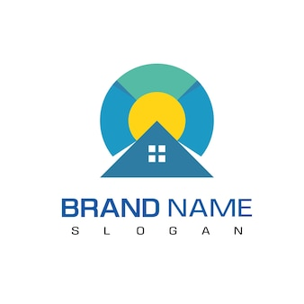 Designvorlage für das immobilien-logo