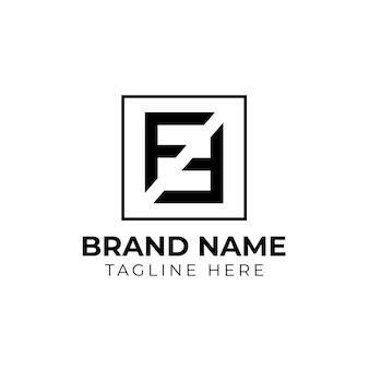 Designvorlage für das logo des anfangsbuchstaben ff