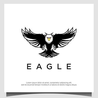 Designvorlage für das logo des fliegenden adlers