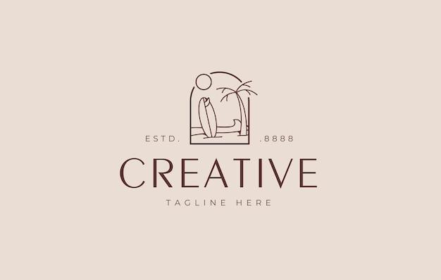 Designvorlage für das logo des sommerinselstrandes