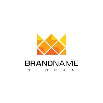 Designvorlage für das pixel crown-logo