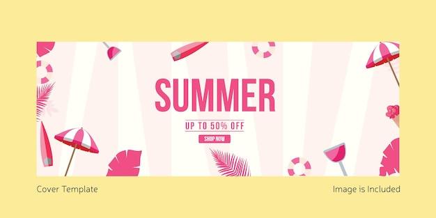 Designvorlage für das sommer-deckblatt