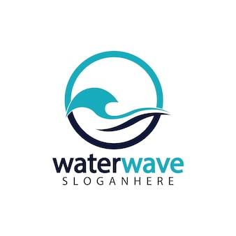 Designvorlage für das wasserwellen-logo