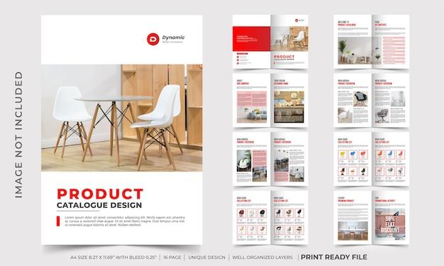 Designvorlage für den produktkatalog des unternehmens