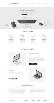 Designvorlage für die website-landingpage.