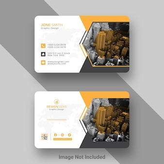 Designvorlage für digitale unternehmensvisitenkarten
