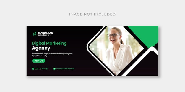 Designvorlage für digitales marketing für facebook-cover oder webbanner