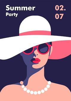 Designvorlage für ein sommerfest-poster