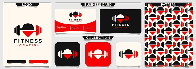 Designvorlage für fitness-pin-logos logo