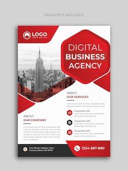 Designvorlage für flyer der digitalen geschäftsagentur
