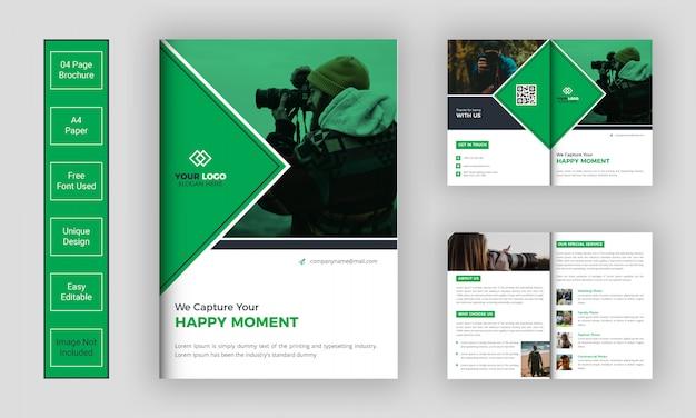 Designvorlage für fotobroschüren