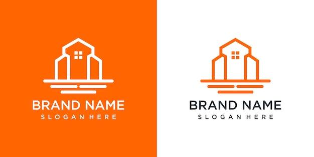 Designvorlage für immobilienlogos