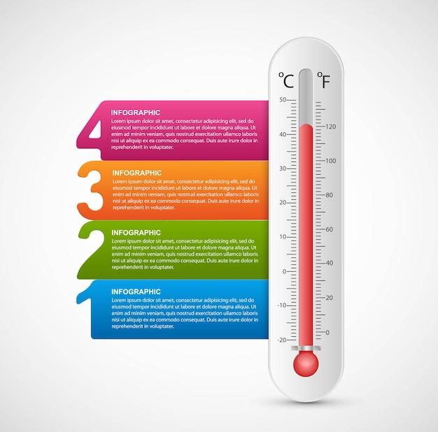 Designvorlage für infografiken-thermometer.