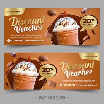 Designvorlage für kaffee-geschenkgutscheine