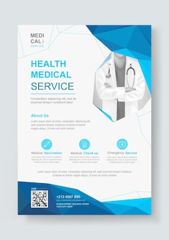 Designvorlage für medizinische flyer