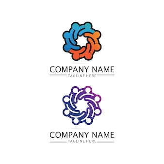 Designvorlage für people community, care group network und social icons
